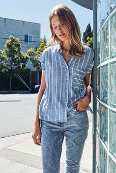 Buy Blue Casual Stripe Shirt from Next Russia