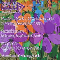 Have you registered your 2015 Walk to End Alzheimer's team yet? It's never too early!  Northern Neck – Middle Peninsula; Saturday, September 19th at Bethpage Camp Resort.   Fredericksburg; Saturday, September 26th at University of Mary Washington.   Richmond Walk to End Alzheimer's; Saturday, November 7th at Innsbrook.   www.alz.org/walk   #Alzheimers #ENDALZ #RVA #Dementia