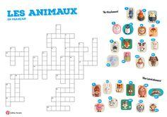 Crosswords French Animals - Mots croisés Les animaux français