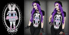 Sisters #restyle.pl #euflonica #gothic #goth #gothicfashion #tee #T-shirt #restyle #darkfashion #dark #gothicart #darkart #siamesesisters #siamesedolls #dolls #bjddoll #bjddolls #bjd #rococo #baroque