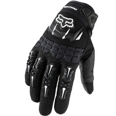 Fox Racing Dirtpaw Men's Off-Road/Dirt Bike Motorcycle Gloves - Color: Black, Size: Large