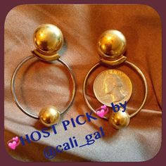"""✔️TWO-TONE PIERCED HOOPS✔️ These are like nothing I've ever seen! Marked LR but haven't done my research. Will be polished to perfection! HP @cali_gal @mandapanda83 @dimndgrl """"Passing it Forward"""" Eve of Valentines Day  Vintage Jewelry"""