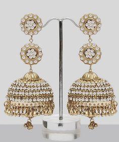 Jhumka Earrings With Stones