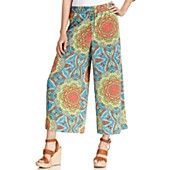 Ellen Tracy Pants, Wide-Leg Cropped Printed Palazzo