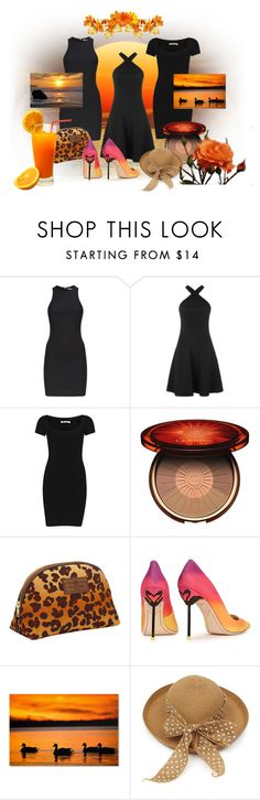 """""""LBD Collection for Summer"""" by leptismagna ❤ liked on Polyvore featuring T By Alexander Wang, Clarins, OTIS BATTERBEE, Sophia Webster, Trademark Fine Art, Islay, LBD and summerstyle"""