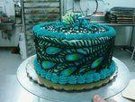 small peacock cake