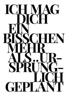 Ein bisschen mehr | Typografie | Echte Postkarten online versenden…