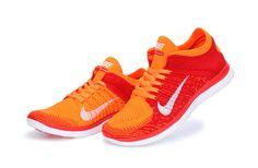 Free Shipping Only 69$ Nike WMNS Free 4.0 Crimson Pure Platinum Laser Orange Total Orange