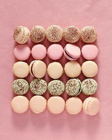 French Macarons Basic Recipe - in the magazine, listed five flavor combo ideas: Toasted Hazelnut and Chocolate, Chocolate Mint, Espresso, Vanilla Bean, Rose Raspberry.
