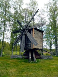 Windmill. - Karvia, Finland. - (via Fazer-Karkki •  https://www.pinterest.com/pin/296463587946553523/ )