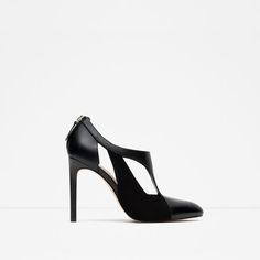 ZARA - WOMAN - CONTRAST LEATHER HIGH HEEL SHOES