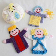 Storybook Puppets: Cinderella crochet pattern $7.99 on Maggie's Crochet at http://www.maggiescrochet.com/storybook-puppets-cinderella-pattern-p-397.html#.UfCr-9LU86E