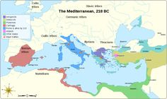 Mediterranean at 218 BC-en - Ptolémée IV — Wikipédia Ancient Rome, Ancient History, Punic Wars, Germanic Tribes, Early Middle Ages, Roman History, Egypt Travel, Historical Maps, Cartography