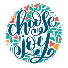 Silhouette Design Store - Choose Joy Cut File by Dawn Nicole Designs