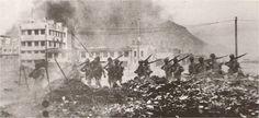 Japanese  soldiers in Hong Kong 1941