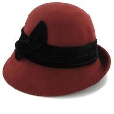 Belfry Irene - Velvet Band Cloche Hat