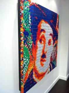 Charlie Chaplin Rubik's Cube Art