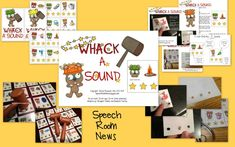 Whack a Sound: K,G,F, S {Freebie Included!) - Re-pinned by @PediaStaff – Please Visit http://ht.ly/63sNt for all our pediatric therapy pins
