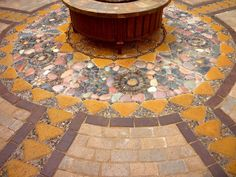 Wow, thats a busy Garden!: Creating A Paver and Pebble Mosaic Patio