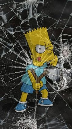 BART The Simpsons cracked iPhone Android wallpaper background Screen Wallpaper, Mobile Wallpaper, Wallpaper Backgrounds, Wallpaper Samsung, Wallpaper Art, Apple Wallpaper, Iphone Backgrounds, Galaxy Wallpaper, Simpson Wallpaper Iphone