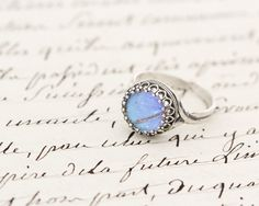 Real Butterfly Wing Adjustable Ring Blue Morpho by BugUnderGlass, $34.00