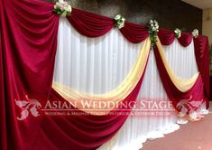 wedding reception backdrops and drapes Backdrop Decorations, Light Decorations, Wedding Decorations, Wedding Top Table, Wedding Reception Backdrop, Church Stage Design, Photo Booth Backdrop, Gold Backdrop, Theme Color