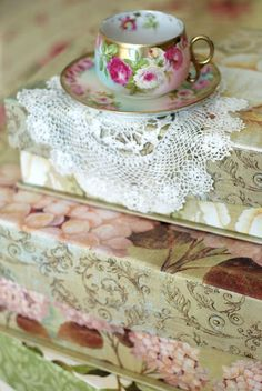 shabby chic #boxes #decor