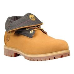 Timberland Icon Roll-Top Fold-Over Boots Mens Yellow Nubuck - ONLY $134.95