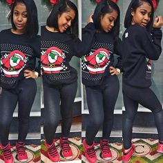 All I want for Christmas is you. Lazy Outfits, Swag Outfits, Kids Outfits, Cute Outfits, Amour Jayda, Black Girl Swag, Ebony Girls, Fashion Killa, Black Is Beautiful