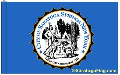 Official City of Saratoga Springs, New York Flag.