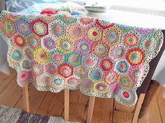 I am going to make a baby blanket after I do the one for the livingroom-instructions linked on Ravelry