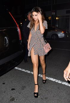 June 3: Selena arriving at Park Side Restaurant in New York City, NY