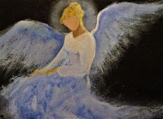 Original Angel Painting Healing Energy by Breten Bryden BrydenArt.com