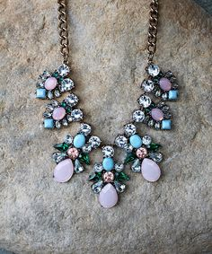 Love this Teal & Pink Sabine Necklace by Lovell lou Jewelry on #zulily! #zulilyfinds
