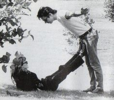 Exene and John Doe, 1987