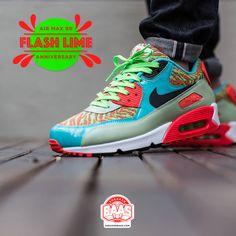 Nike Air Max 90 25th anniversary Flash Lime