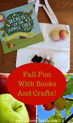 Fall book craft for kids! Check out this simple fall tote to make paired with my favorite fall book from Usborne and Kane Miller.