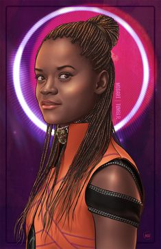"""mdgart: """" """"Wakanda forever! """" Nakia, Okoye & Shuri. I, too, loved Black Panther and had to draw my favorite ladies. I spent an embarrassing amount of time on these and unfortunately, Tumblr compresses..."""