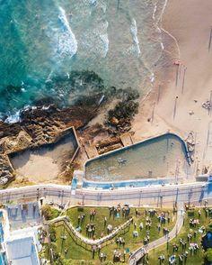 bondi beach foto col drone