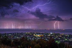 Balaton, Hungary. Storm.