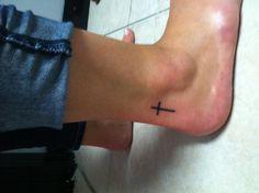new cross tattoo