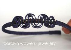 carolyn waweru jewellery - Violet ribbon headband