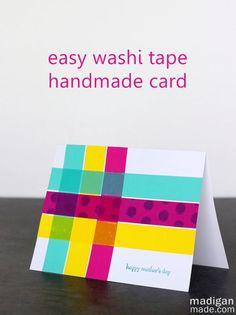 Simple washi tape cards - love the fun, plaid design!