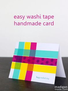 Simple washi tape cards | madigan made { maybe with some more masculine prints}