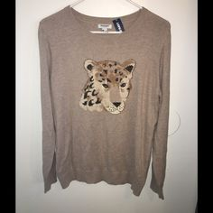 Old Navy Cheetah Light Sweater Brand new, never worn. So cute! Old Navy Tops