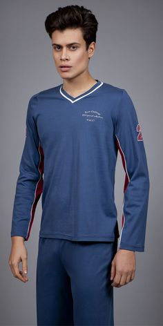 Men's Pyjamas Interlock 1733 | Pyjamas| Vamp! Pyjamas, Fashion Outfits, Luxury, Long Sleeve, Clothing, Sleeves, Mens Tops, T Shirt, Collection