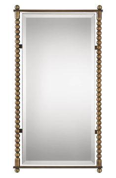 Rosabel Antique Brass Rectangular Mirror, Main, color, PLATED ANTIQUE BRASS
