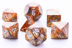 Lustrous Dice (Gold) RPG Role Playing Game Dice Set