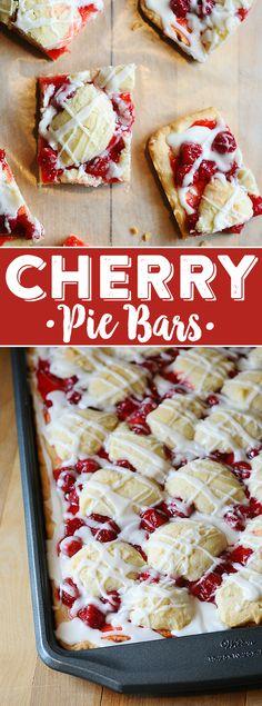 Cherry Pie Bars Recipe   Cherry Kuchen Bars   Easy Dessert Bars   Cherry Pie Filling Dessert   Sheet Pan Dessert