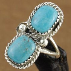 Native American Turquoise Jewelry | Native American Turquoise Sterling Silver Ring Navajo Indian jewelry ...